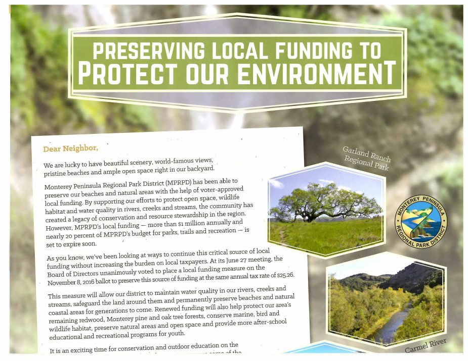 Monterey Peninsula Regional Park District Mailer Inside Top July 7 2016