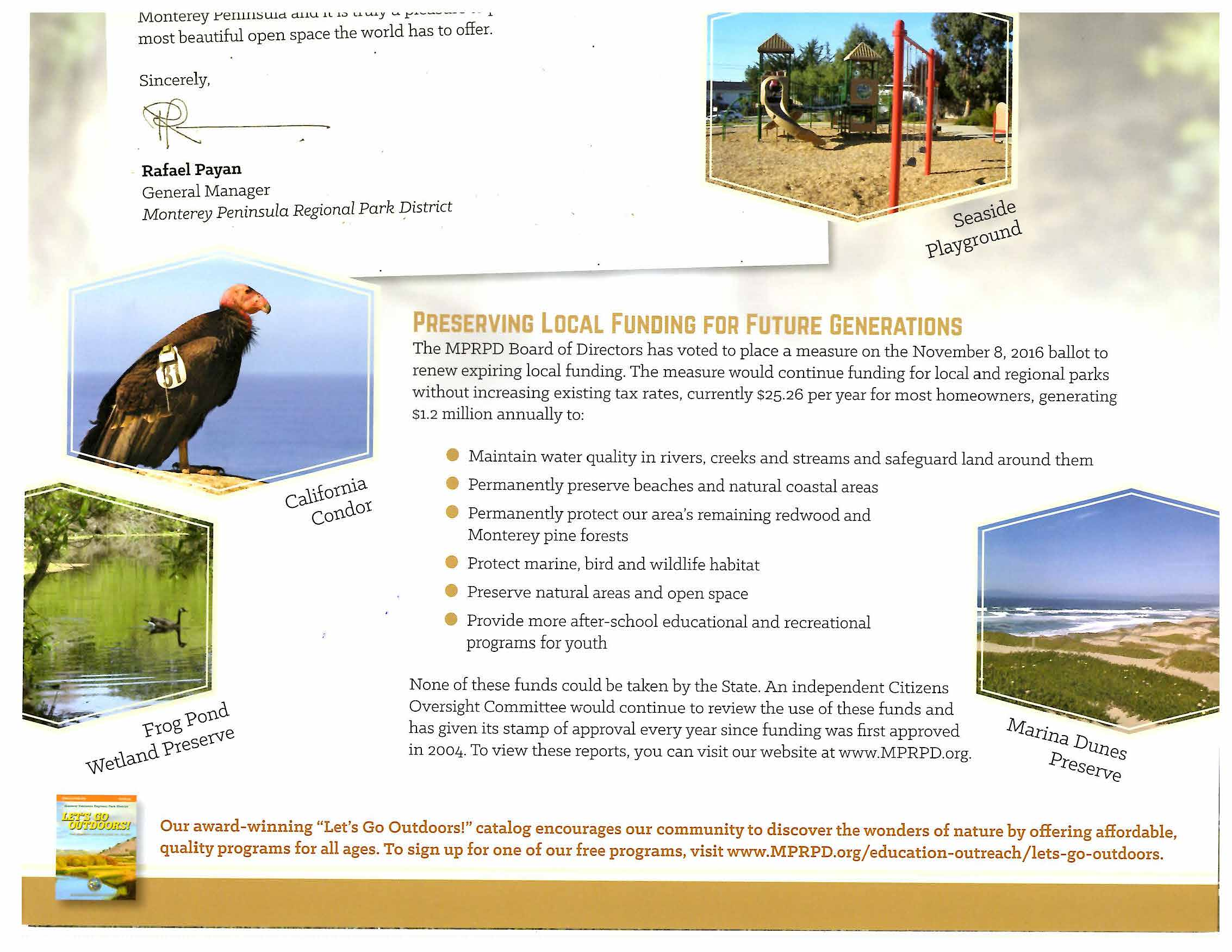 Monterey Peninsula Regional Park District Mailer Inside Bottom July 7 2016